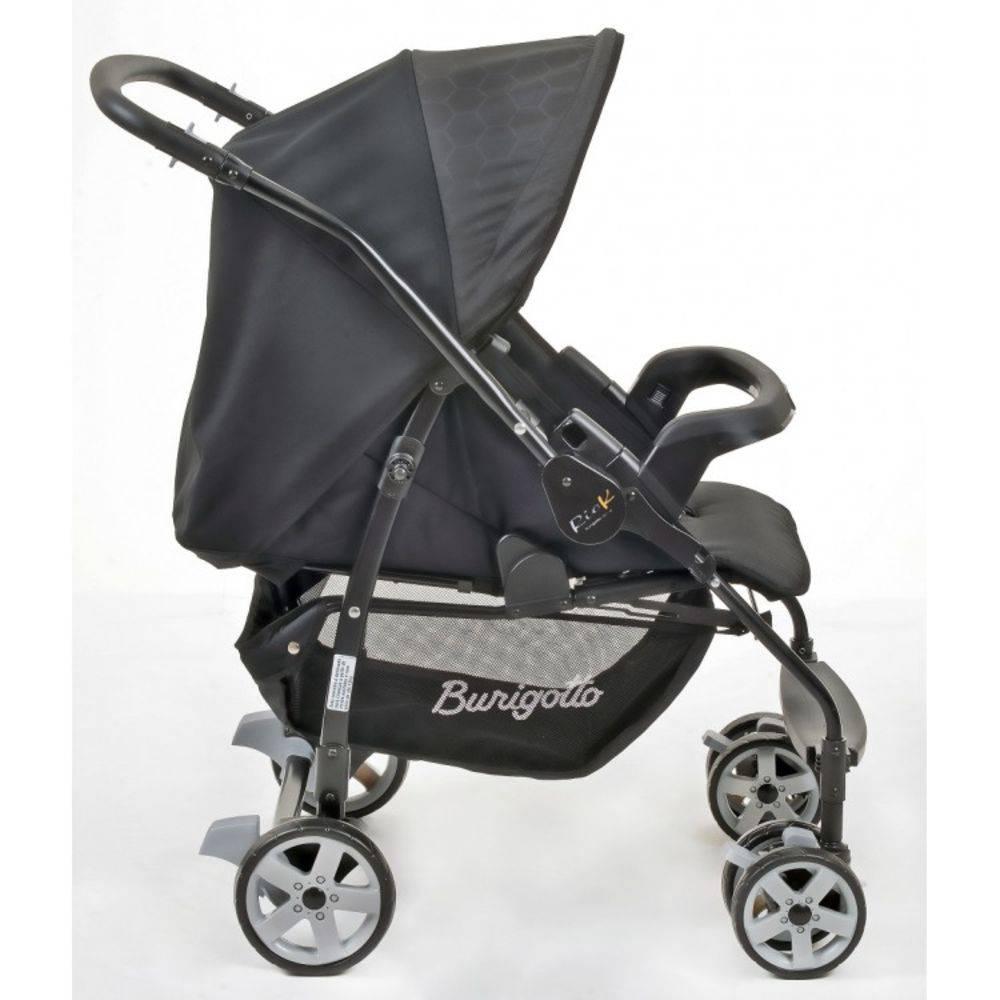 Carrinho de Bebê com Bebê Conforto Rio K Geo Preto + Base + Ninho Pramete - Burigotto