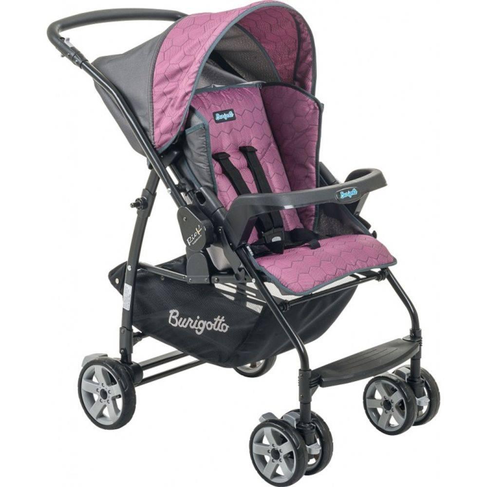 Carrinho de Bebê com Bebê Conforto Rio K Geo Rosa + Ninho Pramette - Burigotto