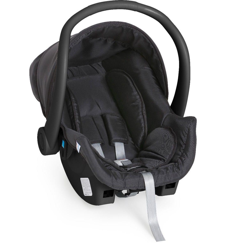Carrinho de Gêmeos Doppio Preto + 2 Bebê Conforto - Galzerano
