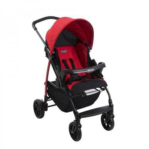 Carrinho de Bebe Ecco com Bebe Conforto + Base e Ninho Pramette Vermelho - Burigotto