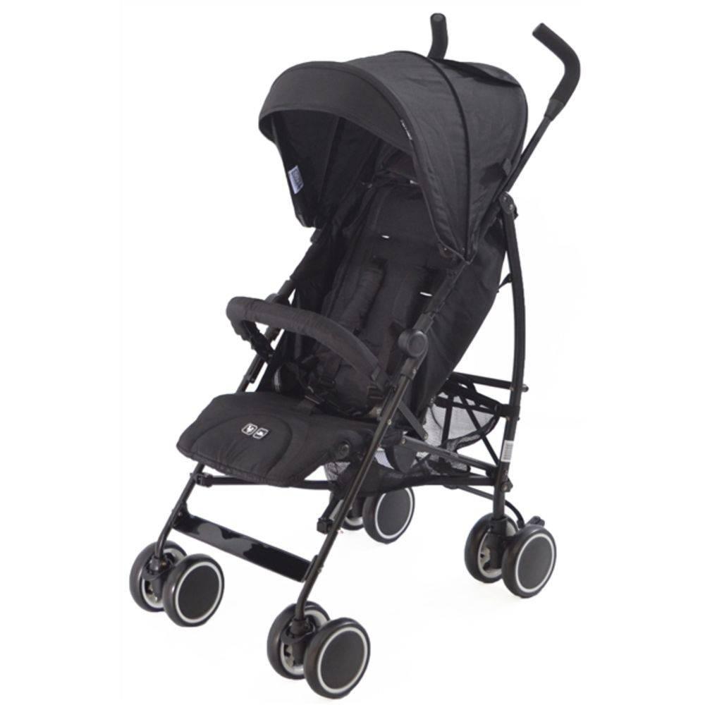Carrinho De Bebê Guarda-chuva Genua Woven Black (Preto) - Abc Design