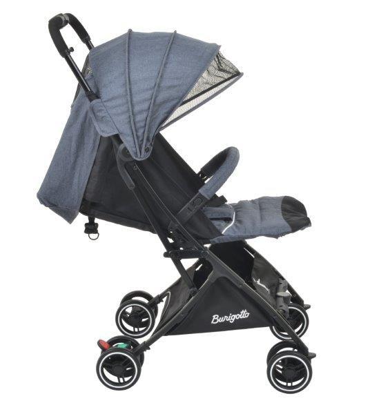 Carrinho de Bebê It Gray (Cinza - Leve e Extremamente Compacto) - Burigotto