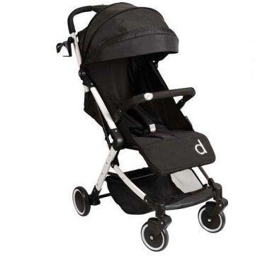 Carrinho de Bebê Izzy Black (Preto) - Dzieco
