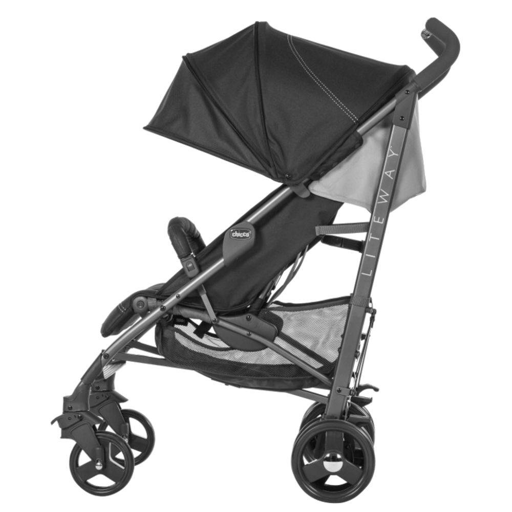 Carrinho De Bebê Lite Way 3 Basic Jet Black 5 posições até 15kg - Chicco