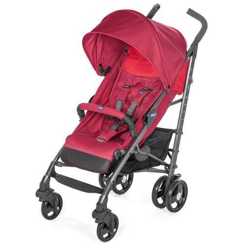 Carrinho De Bebê Lite Way 3 Basic Red Berry 5 posições até 15kg - Chicco