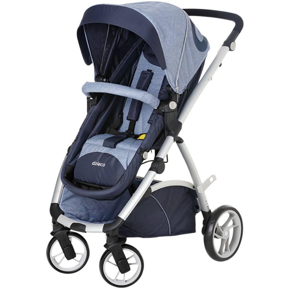 Carrinho de Bebê Maly Azul Jeans - Dzieco