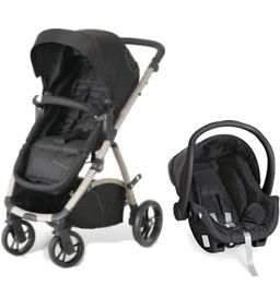 Carrinho de Bebê Maly Black Sand + Bebê Conforto Cocoon - Dzieco
