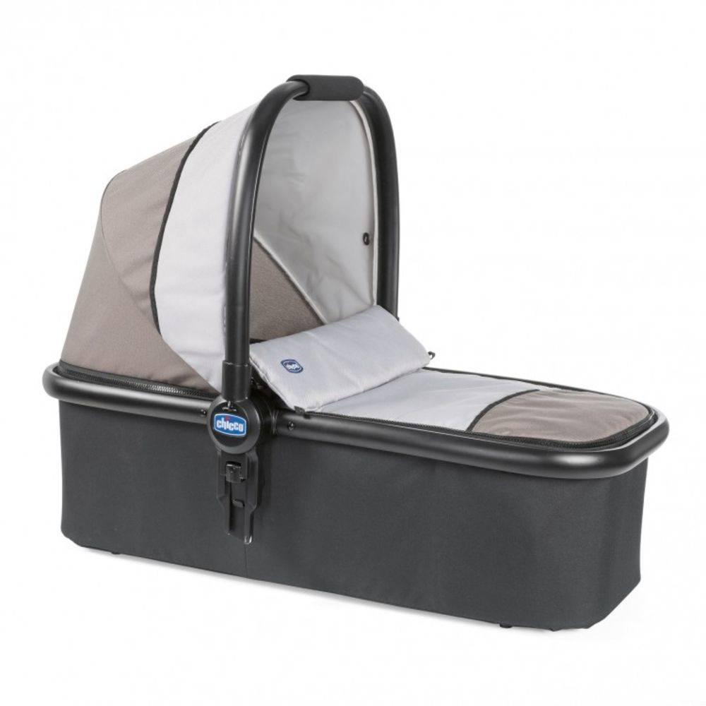 Carrinho de Bebe Moisés Kwik.One Moka (Bege) + Cadeira para Auto KeyFit - Chicco