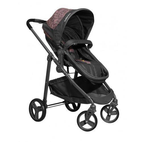 Carrinho de Bebê Moisés Olympus Grafite Rosa com Bebê Conforto GRRG + Base - Galzerano