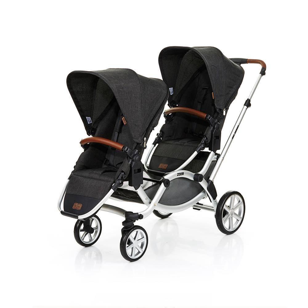 Carrinho de Bebê Para Gêmeos ABC Design Zoom + Bebê Conforto Piano - ABC Design