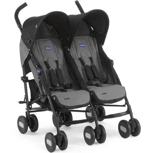 Carrinho de Bebê Passeio Gêmeos Echo Twin 2 Posições - Chicco