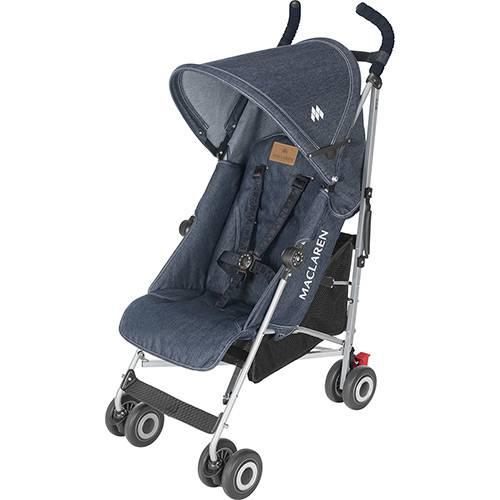 Carrinho de Bebê Passeio Maclaren Quest Denim Indigo 4 posições - Maclaren