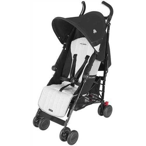 Carrinho de Bebê Passeio Maclaren Quest Preto 4 posições Preto/Prata - Maclaren