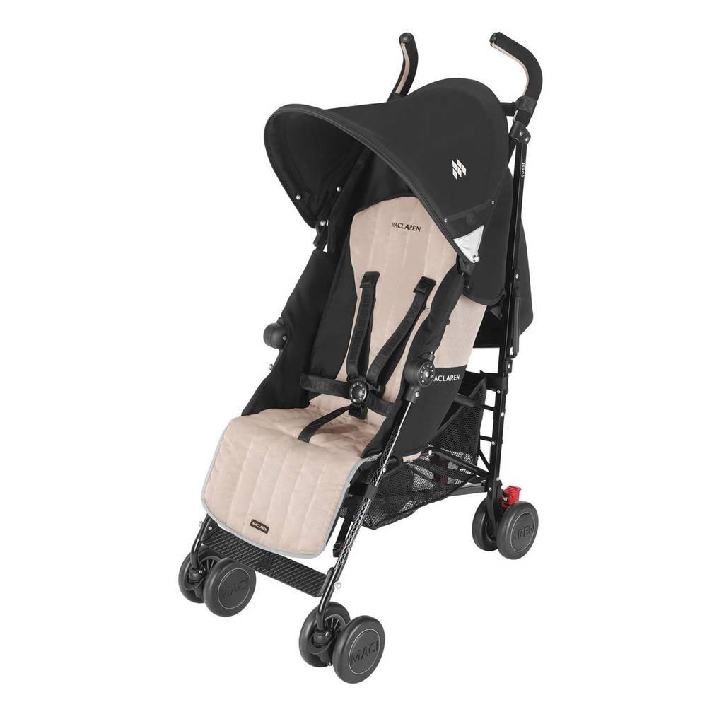 Carrinho de Bebê Passeio Quest Preto 4 posições Champanhe - Maclaren