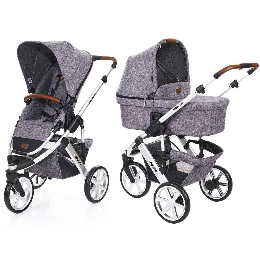 Carrinho de Bebê Salsa 3 Rodas com Moisés Race (Cinza Claro) - ABC Design