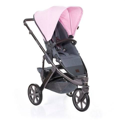 Carrinho de Bebê Salsa 3 Rodas com Moisés Rose (Rosa) - ABC Design