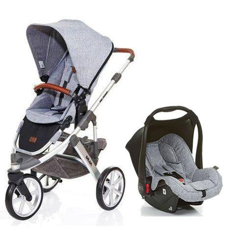 Carrinho de Bebê Salsa 3 Rodas Graphite Gray (Cinza) com Bebê Conforto - ABC Design