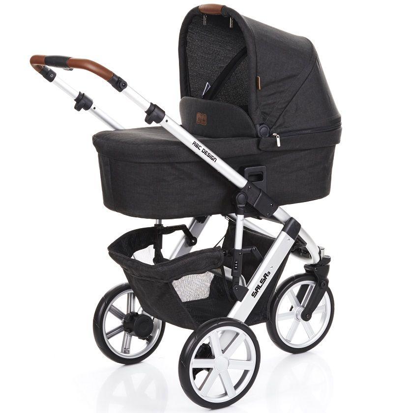 Carrinho de Bebê Salsa 3 Rodas Piano (Preto) com Bebê Conforto - ABC Design