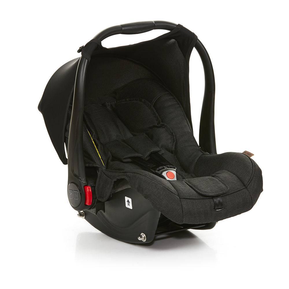 Carrinho de Bebê Salsa 3 Rodas Piano (Preto) + Moisés + Bebê Conforto + Base Isofix - ABC Design