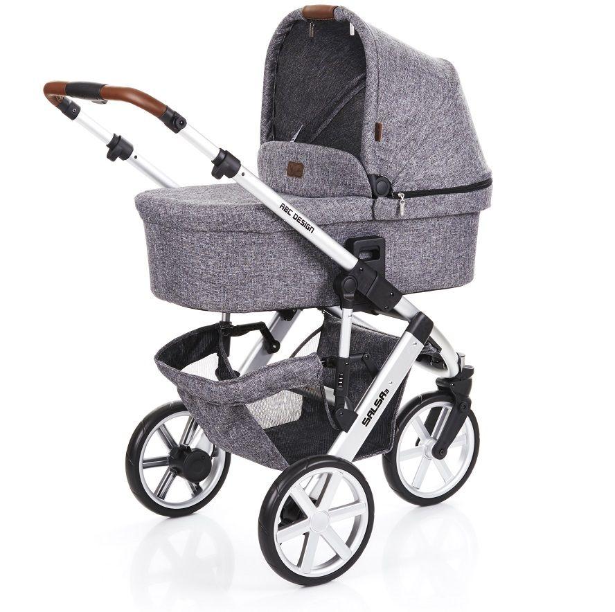 e77af3d9e ... Carrinho de Bebê Salsa 3 Rodas Race (Cinza Escuro) com Bebê Conforto -  ABC ...