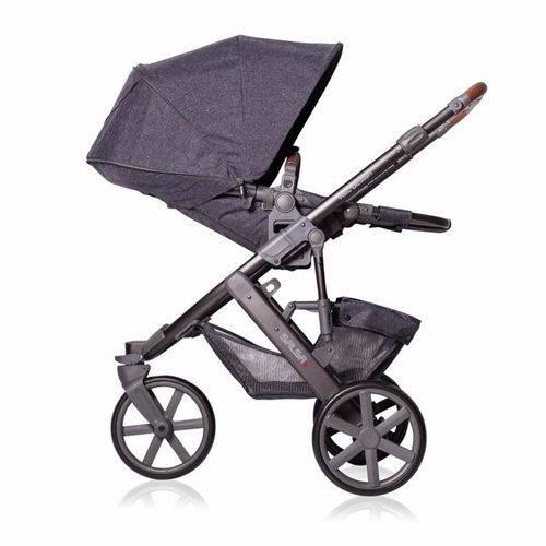 Carrinho de Bebê Salsa 3 Rodas Style Street (Cinza Escuro) com Bebê Conforto - ABC Design
