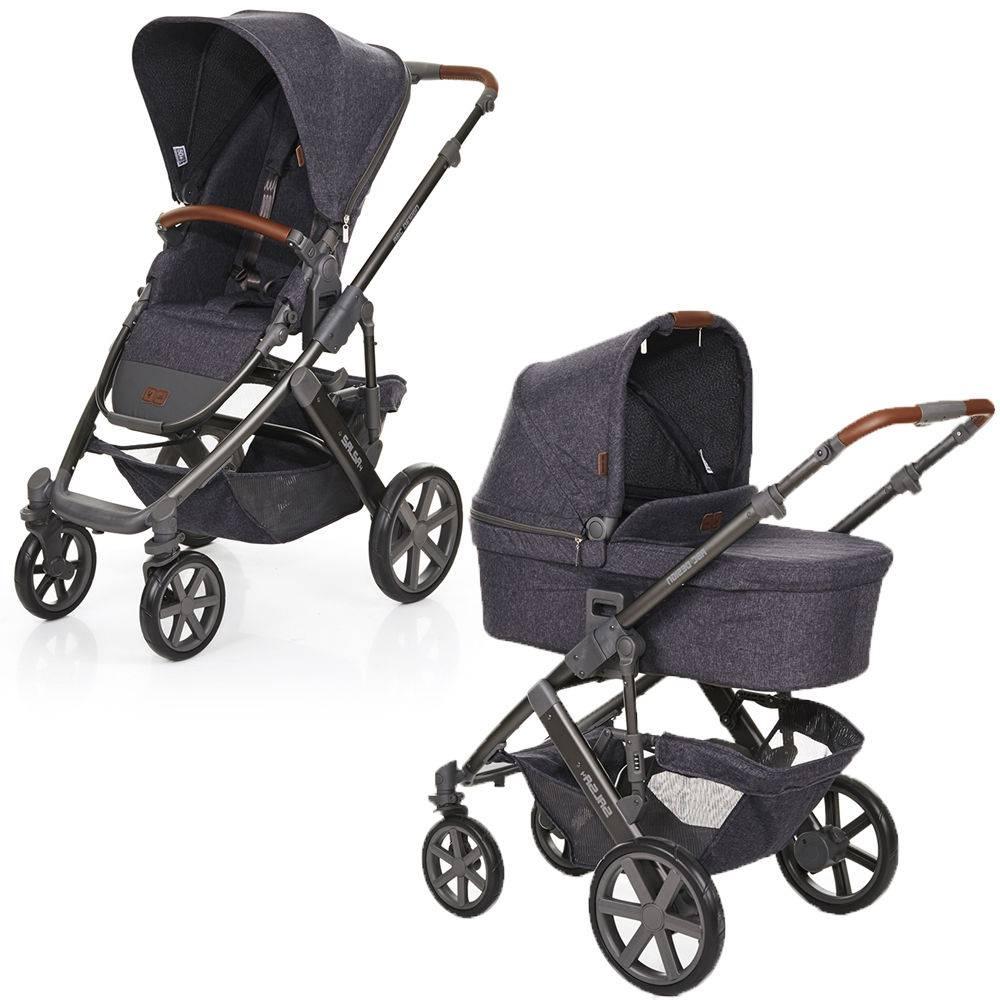 Carrinho de Bebê Salsa 4 Rodas + Moisés Style Street (Cinza Escuro) - ABC Design