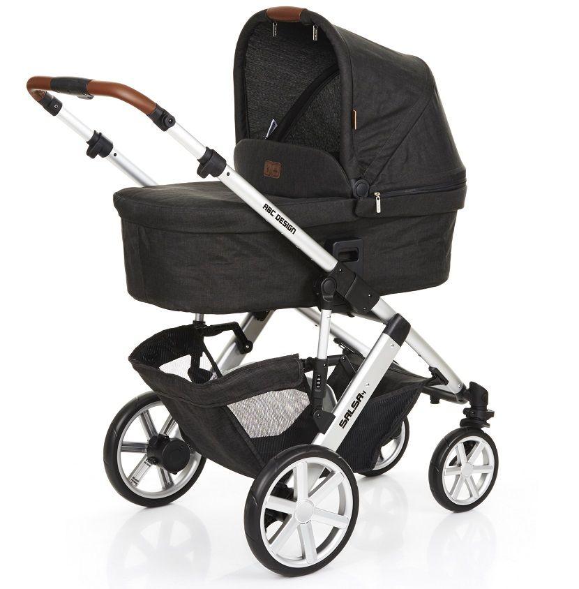 Carrinho de Bebê Salsa 4 Rodas Piano (Preto) - ABC Design