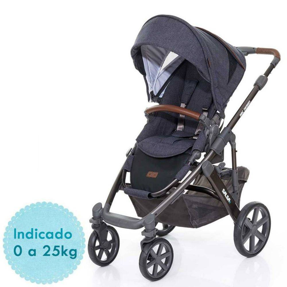 Carrinho de Bebê Salsa 4 Rodas Style Street (Cinza Escuro) - ABC Design