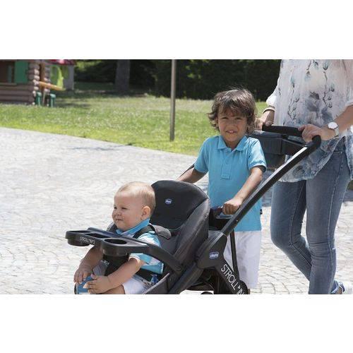 Carrinho de Bebe Stroll'in'2 Octane (Preto com det. Azul) - Chicco