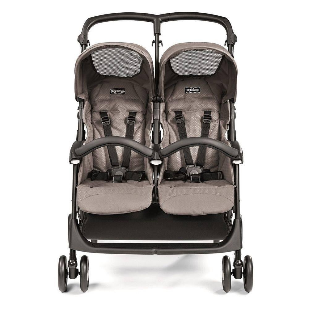 Carrinho De Gêmeos Aria Shopper Twin Beige - Peg-perego