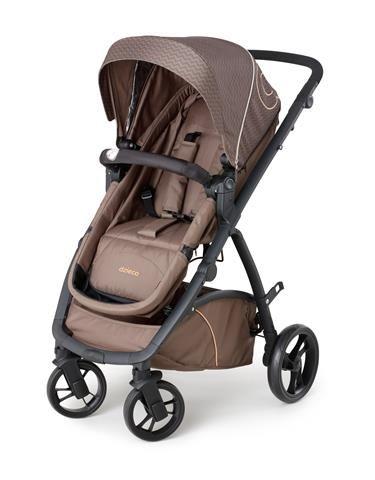 Carrinho de Passeio com Bebê Conforto Maly Chocolate (Marrom) + Base - Dzieco