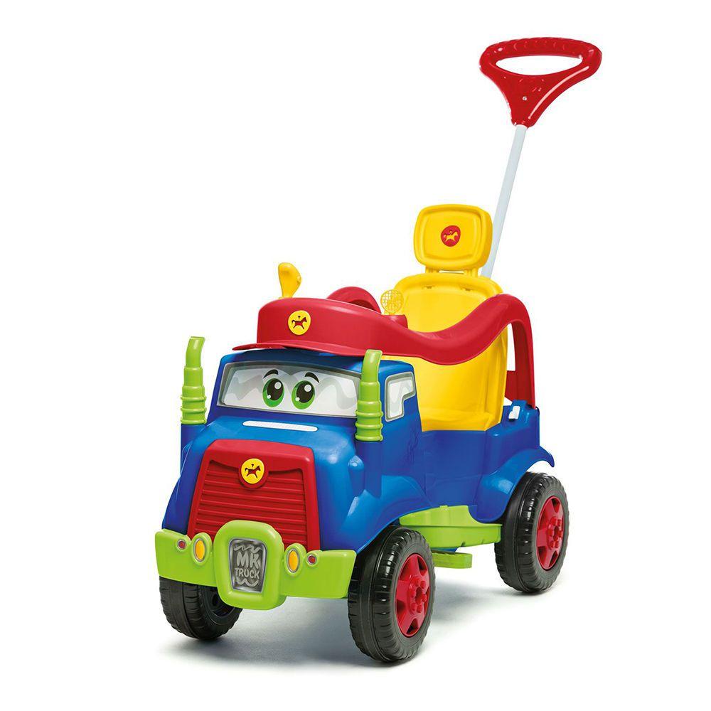 Carrinho De Passeio Mk Truck Com Buzina Azul - Calesita