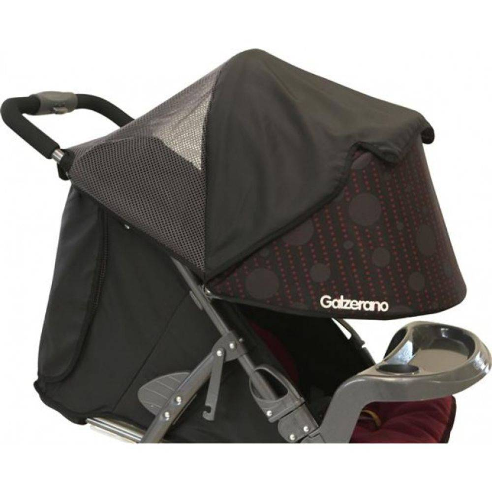 Carrinho De Passeio San Remo Preto + Bebê Conforto + Base - Galzerano