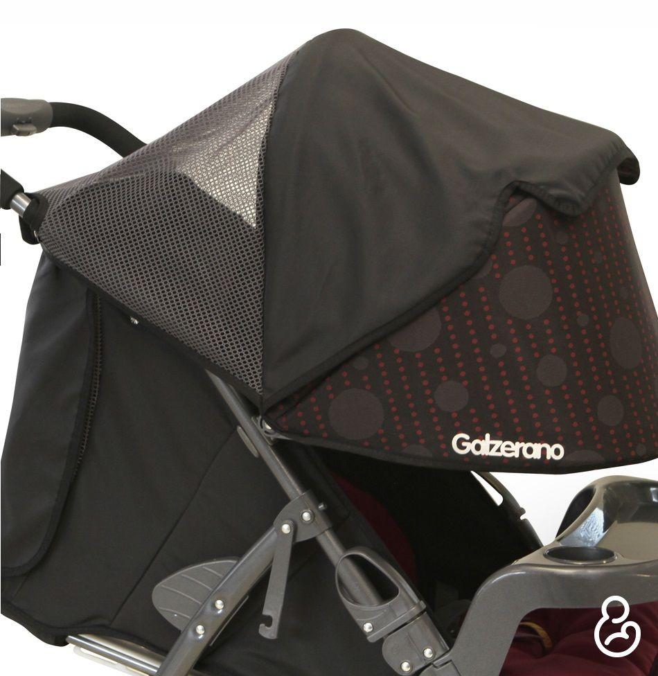 Carrinho De Passeio San Remo Preto + Bebê Conforto - Galzerano