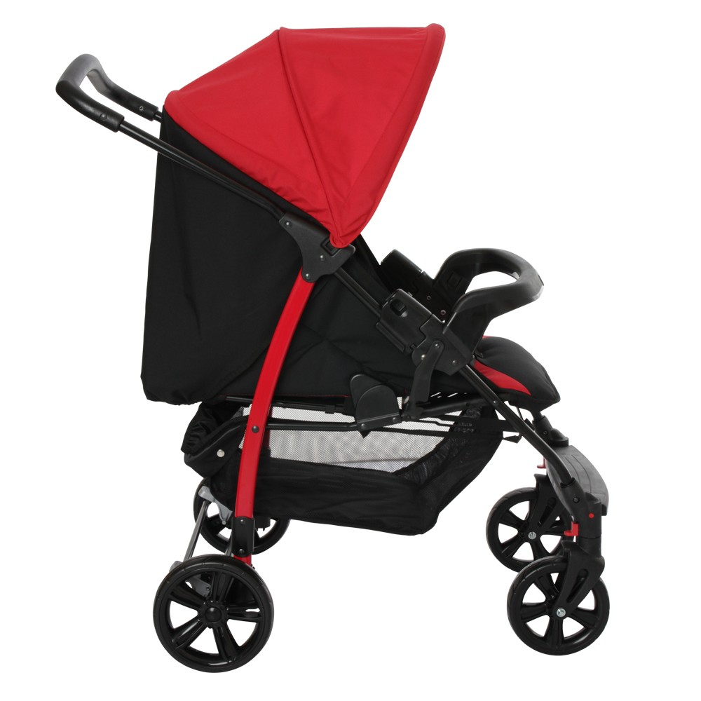 Carrinho Ecco Red (Vermelho) com Bebê Conforto Touring Evolution Se + Base - Burigotto