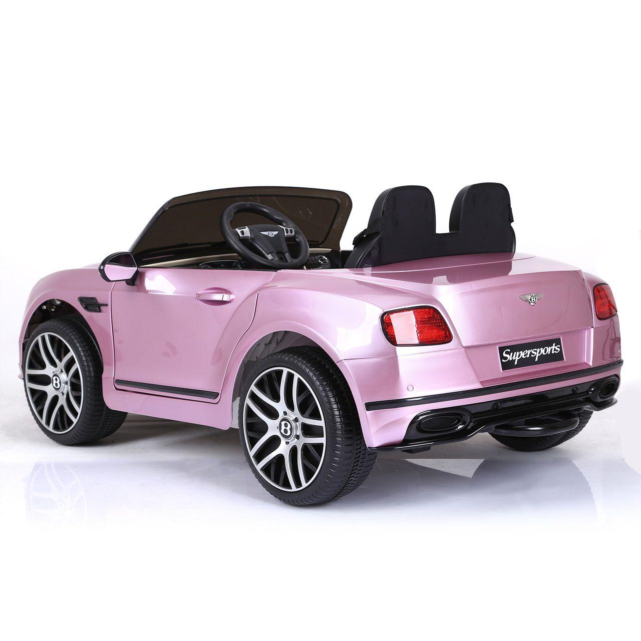 Carrinho Elétrico Infantil Bentley Continental Rosa Metálico 6v - Belfix