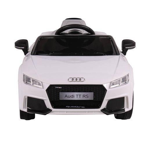 Carrinho Infantil Elétrico Audi TT RS (Branco) R/C 12V - Belfix