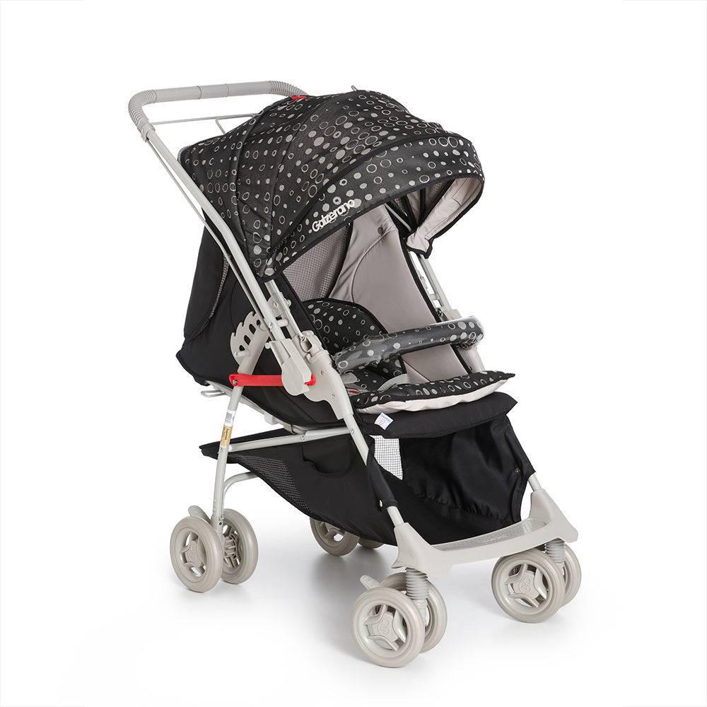 Carrinho Maranello c/ Bebê Conforto + Base - Preto - Galzerano