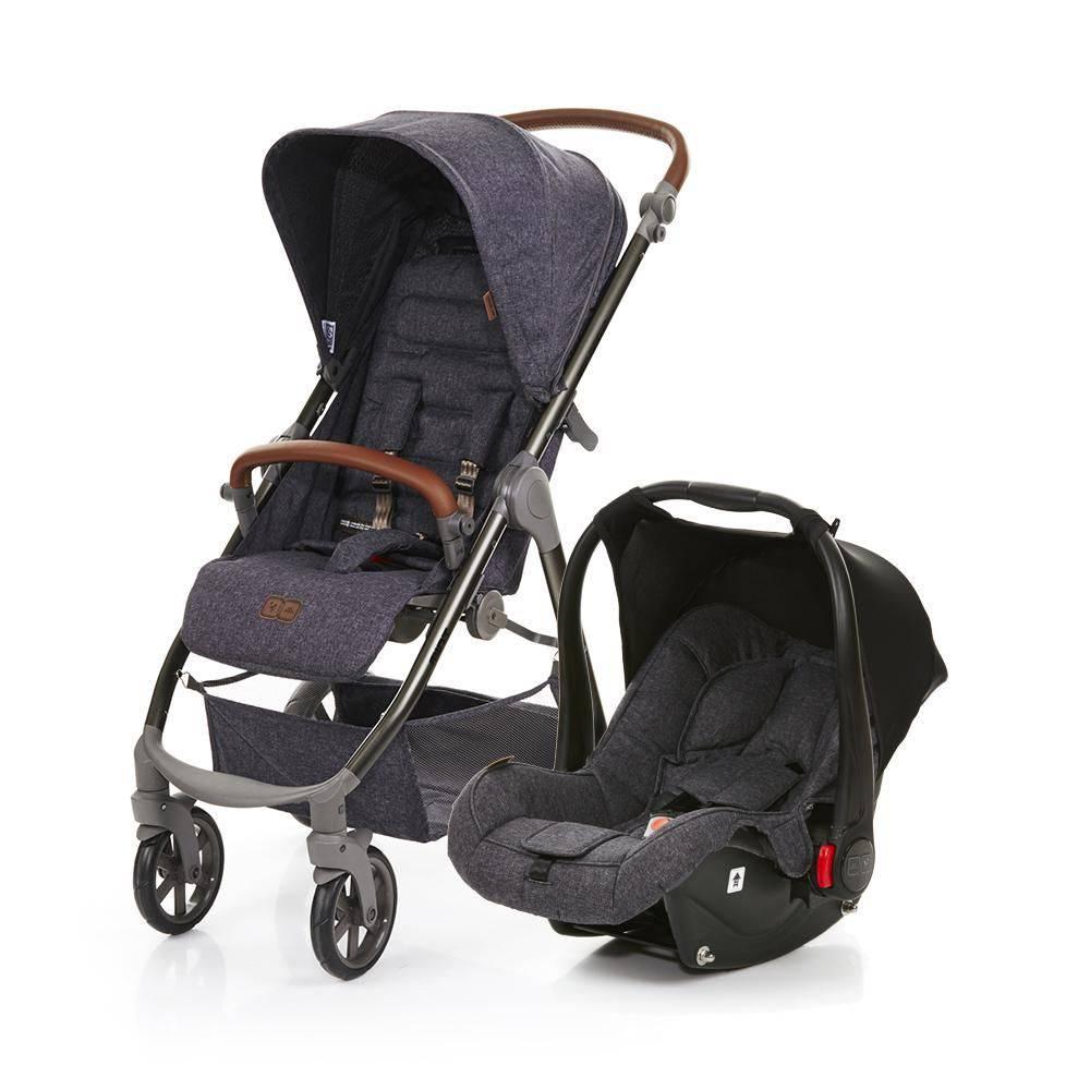 Carrinho Mint com Bebê Conforto Risus Style Street (Cinza Escuro) - Abc Design