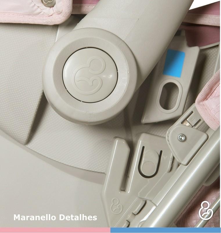 Carrinho Reversível Maranello c/ Bebê Conforto - Preto - Galzerano