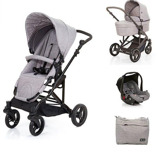 Travel System com Bebê Conforto e Moisés COMO4 Wover Gray (Cinza) - ABC Design