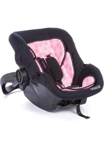 Carrinho Travel System Com Bebê Conforto Moove Rosa Trama - Cosco