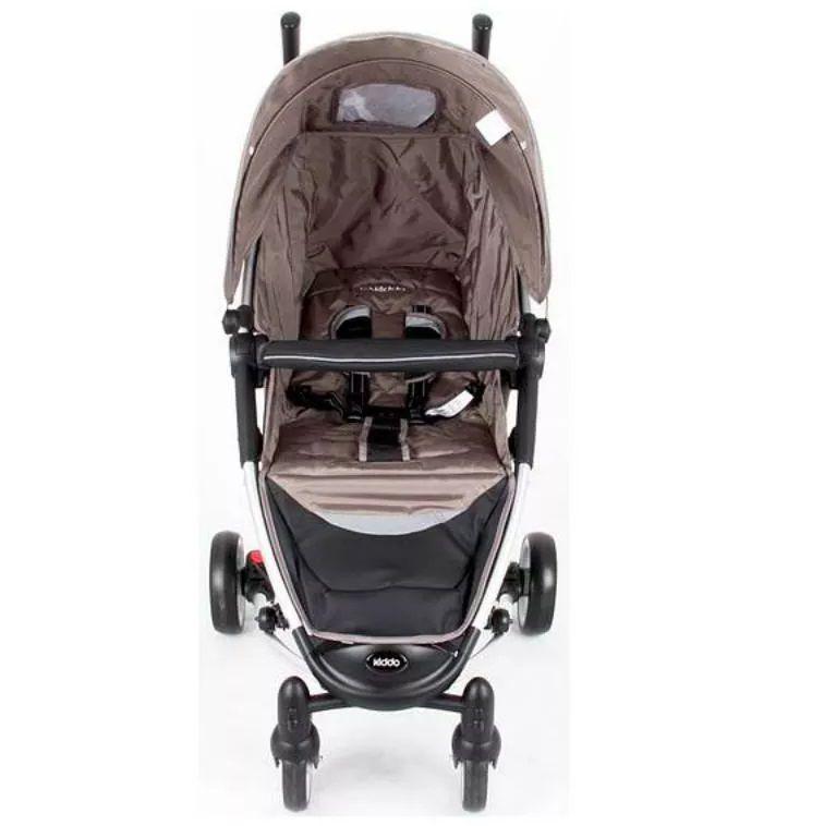 Carrinho Travel System Helios Preto + Bebê Conforto Caracol + Base - Kiddo