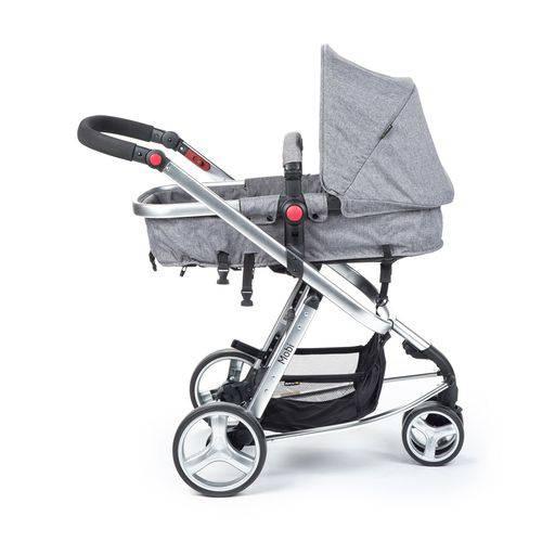 Carrinho Travel System Mobi com Bebê Conforto Cinza - Safety 1st