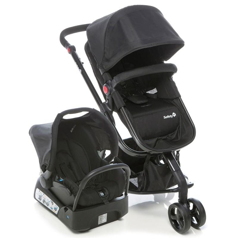 Carrinho Travel System Mobi com Bebê Conforto Preto - Safety 1st