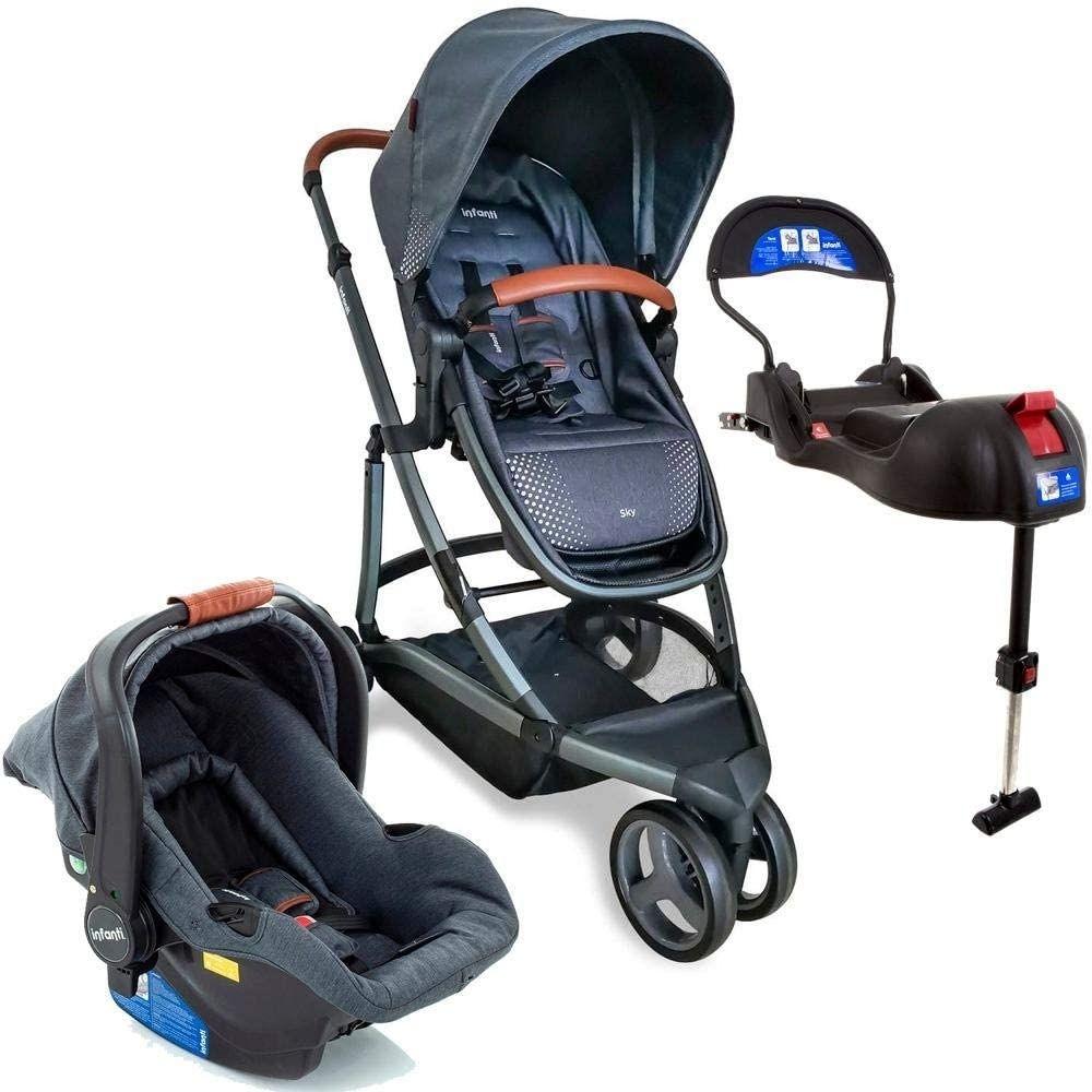 CARRINHO TRAVEL SYSTEM SKY TRIO GREY VINTAGE - INFANTI