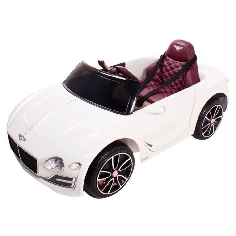 Carro Elétrico Bentley EXP12 12V (Banco de Couro) Branco - Belfix