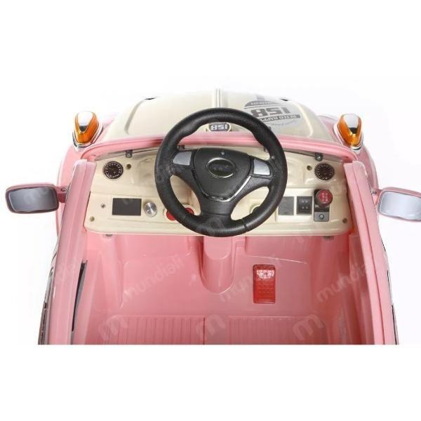Carro Elétrico Fusca Rosa 6v - BelFix