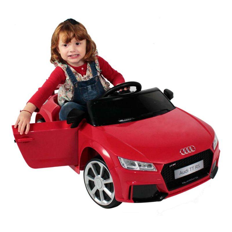 Carro Elétrico Infantil Audi TT RS (Vermelho) R/C 12V + Piscina 1.000 L - Belfix