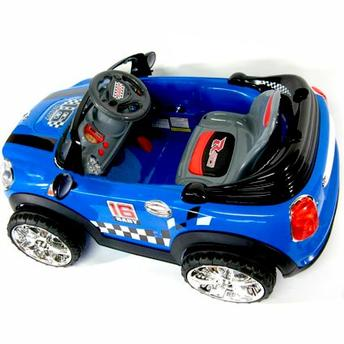 Carro Elétrico Infantil Mini Cooper Conversível Azul 6V (912400) II - BelFix